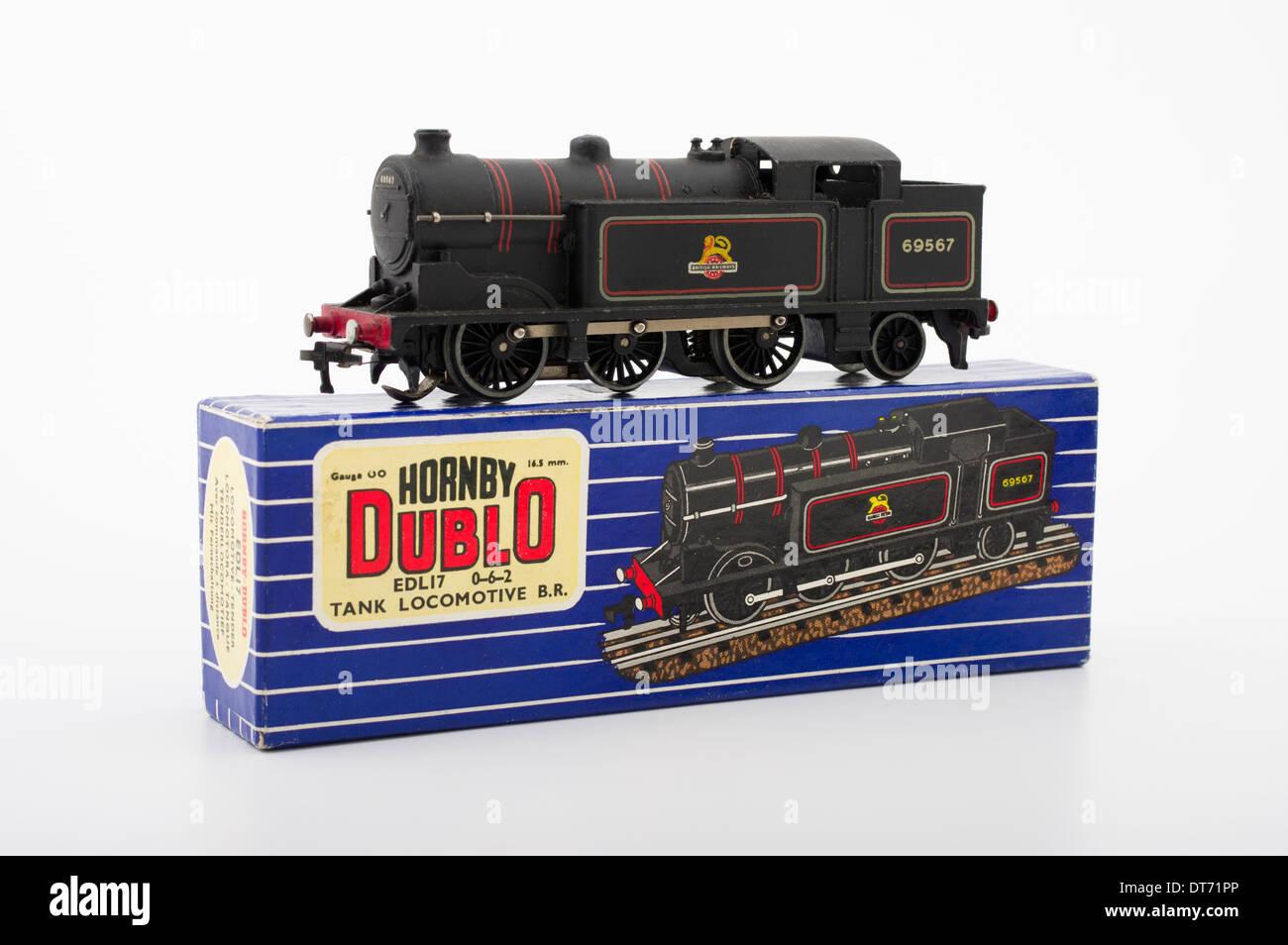 Hornby Dublo EDL17 Tank Locomotive Train Classic Brtish Children's Toy - Stock Image