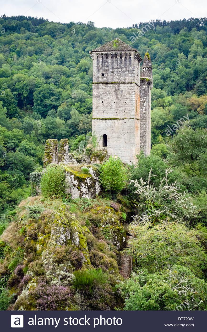 Tours de Merle, Saint-Geniez-ô-Merle, Corrèze département, Limousin, France - Stock Image
