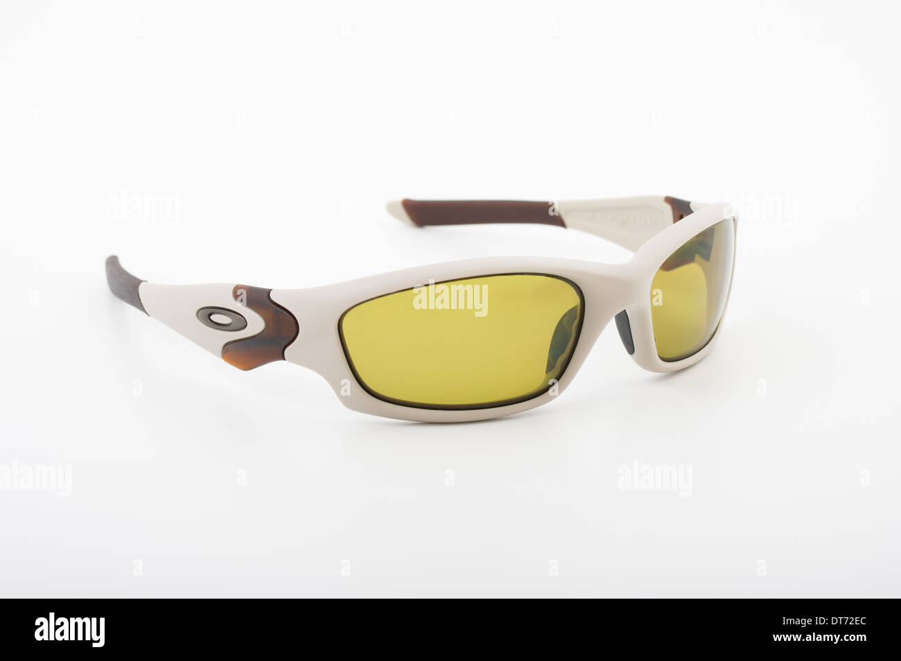 e0e6c2aa02 Oakley Straight Jacket Sunglasses with yellow polarized lenses - Stock Image