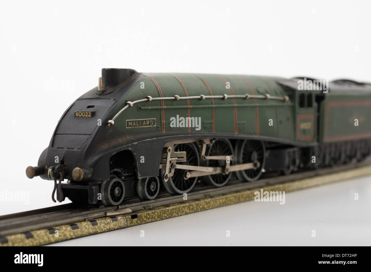 Hornby Dublo Green Mallard Model Locomotive Train Classic Brtish Children's Toy - Stock Image