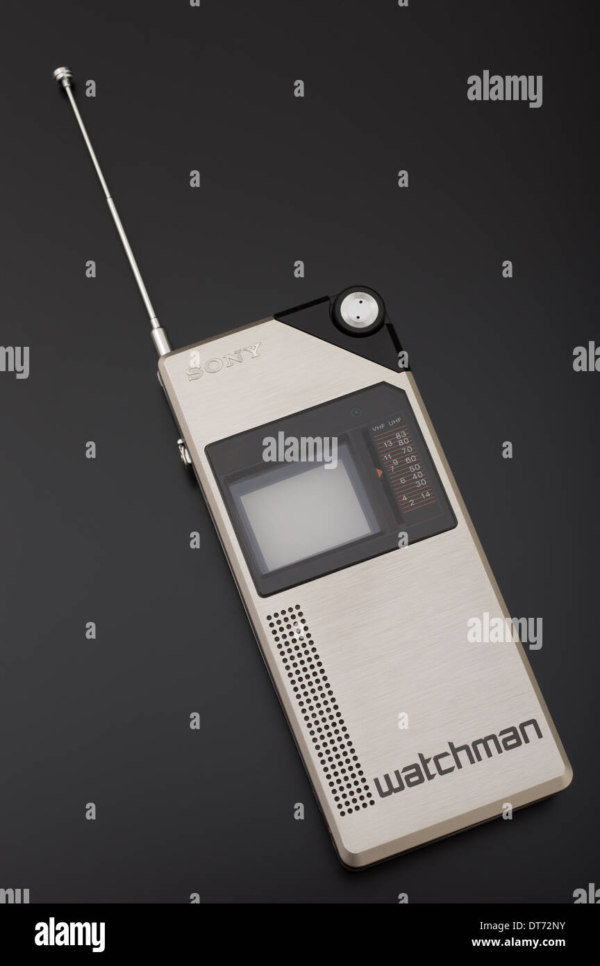 Sony FD-210 Watchman first portable television set - Stock Image