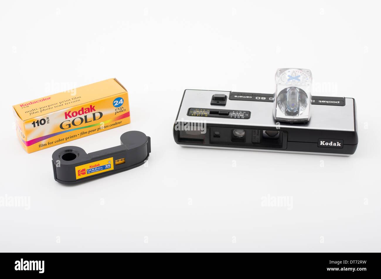 Kodak Instamatic 60 Film camera for 110 format film. - Stock Image