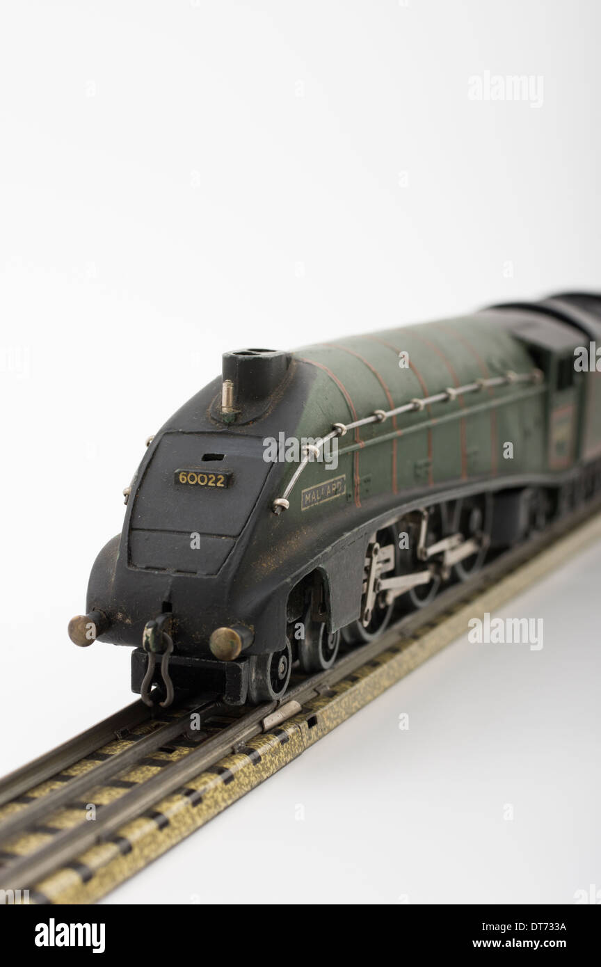 Hornby Dublo Green Mallard Model Locomotive Train Classic British Children's Toy - Stock Image