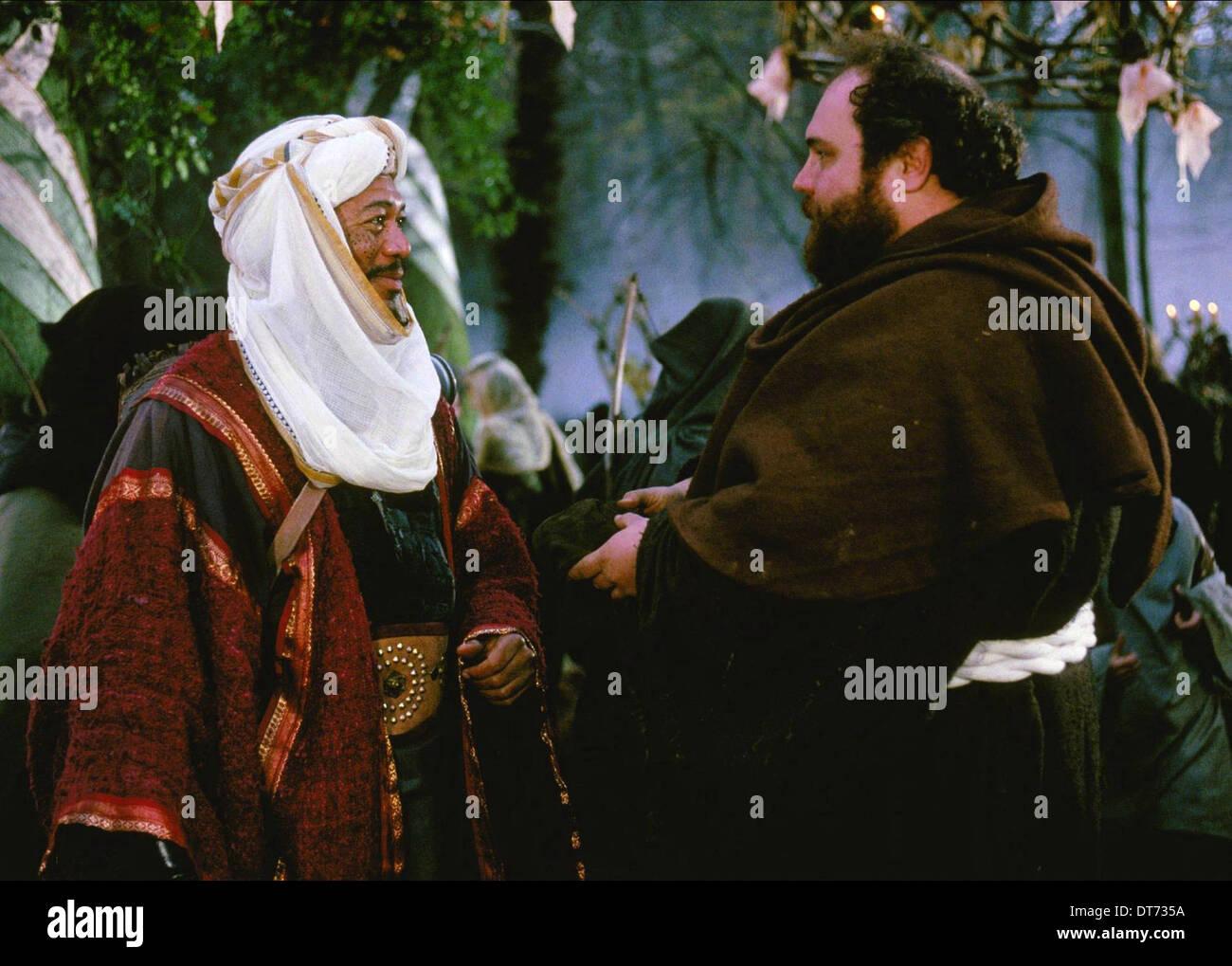 MORGAN FREEMAN & MICHAEL MCSHANE ROBIN HOOD: PRINCE OF THIEVES (1991) - Stock Image