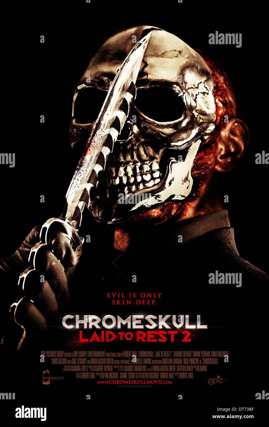 MOVIE POSTER CHROMESKULL: LAID TO REST 2 (2011) - Stock Image