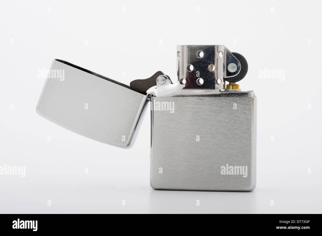 Zippo Cigarette lighter. made in Bradford, Pennsylvania, USA U.S.A. - Stock Image