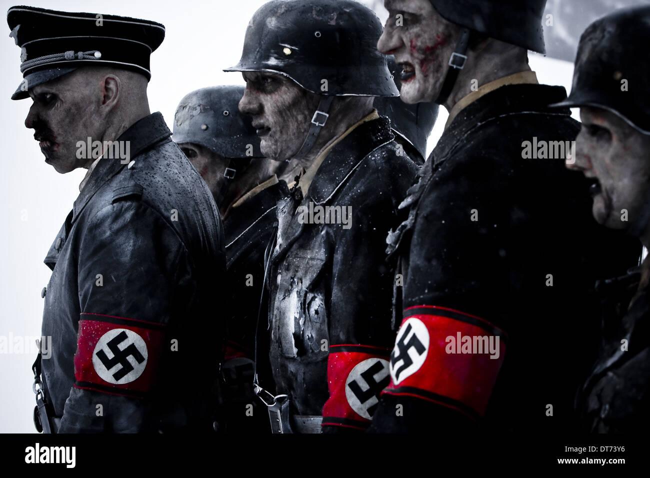 NAZI ZOMBIES DEAD SNOW (2009) - Stock Image