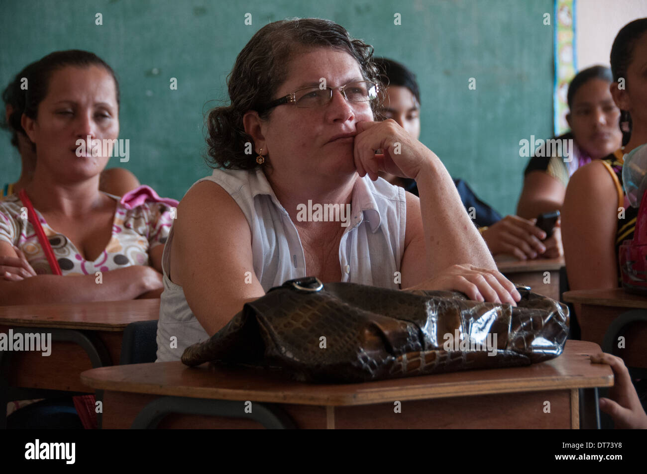 Adults education Province of Limon Costa Rica - Stock Image