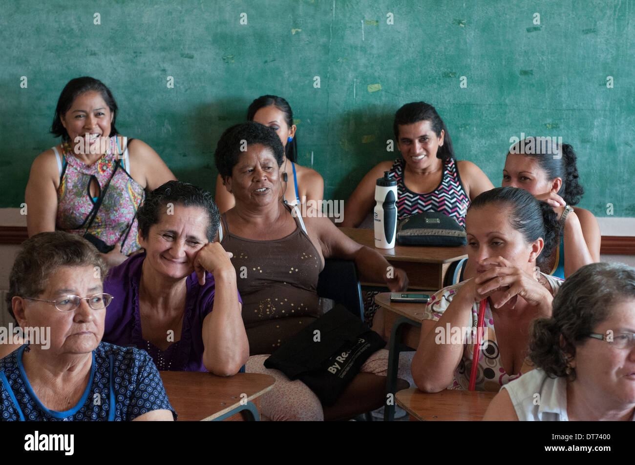 Adults in class learning Costa Rica - Stock Image