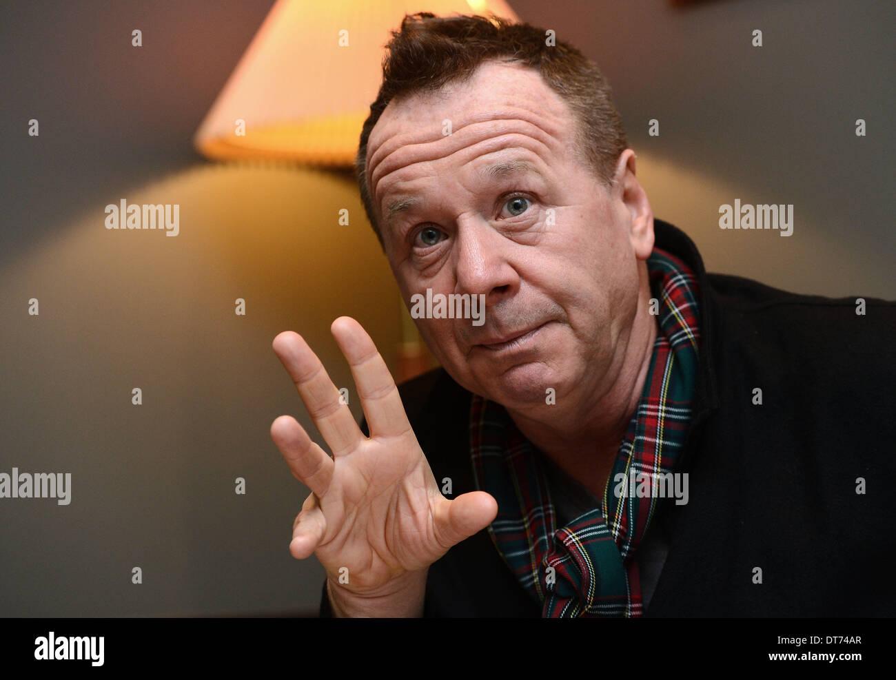 Prague, Czech Republic. 10th February 2014. Simple Minds frontman Jim Kerr is seen during a press conference in Prague, Czech Republic, on February 10, 2014. (CTK Photo/Katerina Sulova/Alamy Live News) - Stock Image