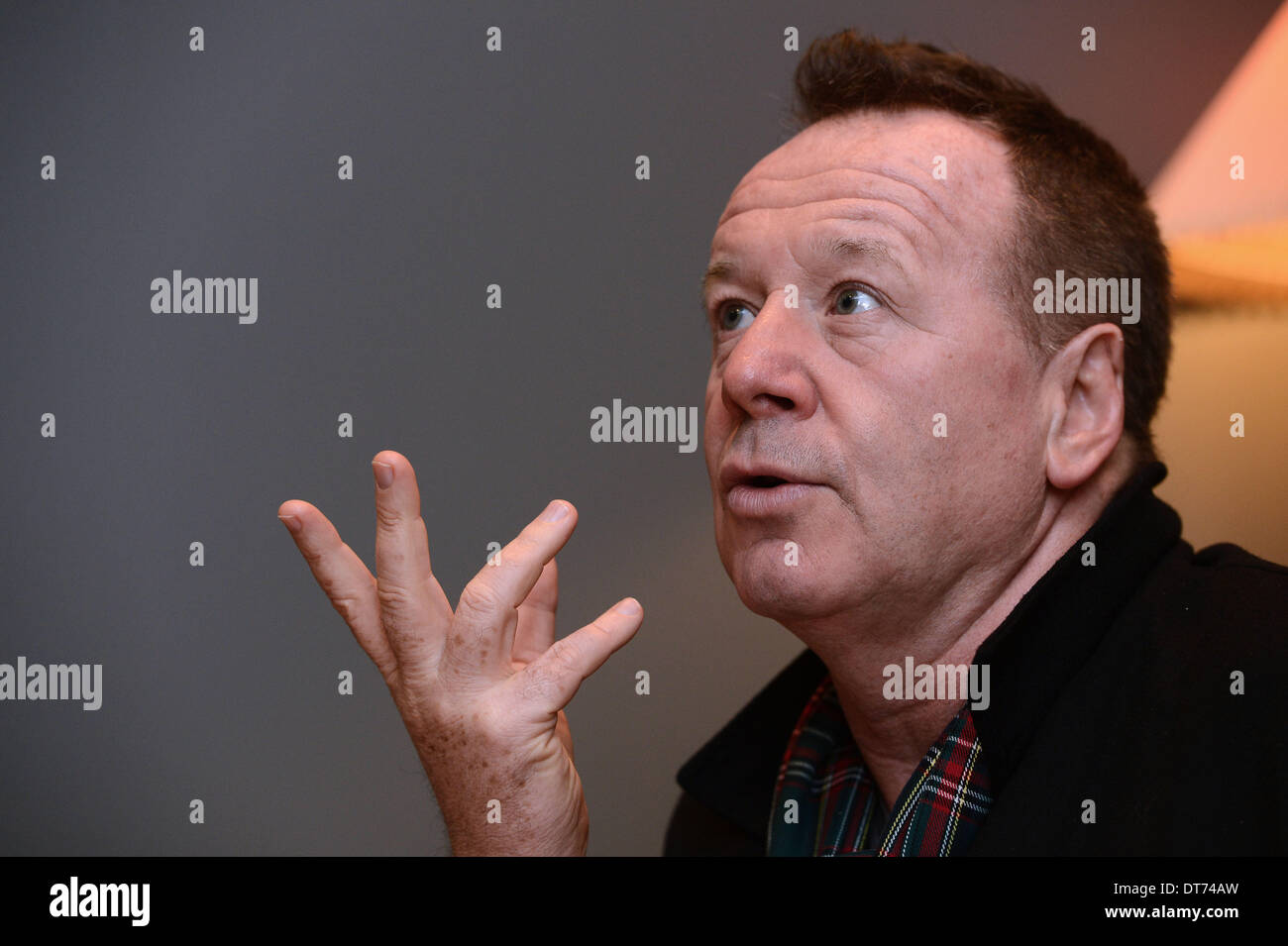 Prague, Czech Republic. 10th February 2014. Simple Minds frontman Jim Kerr is seen during a press conference in Prague, Czech Republic, on February 10, 2014. (CTK Photo/Katerina Sulova/Alamy Live News) - Stock Image