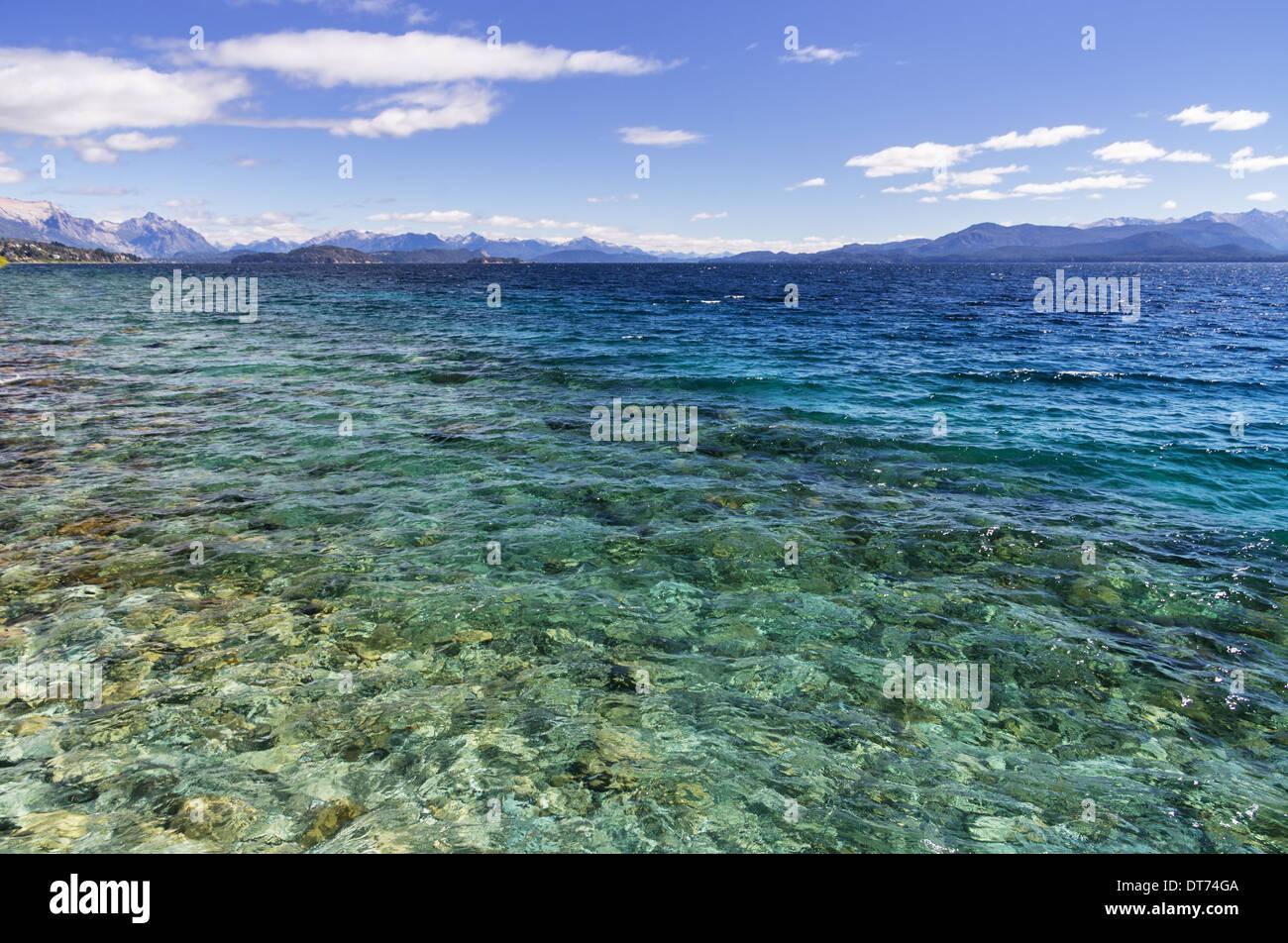 Lake Nahuel Huapi from San Carlos De Bariloche Argentina - Stock Image