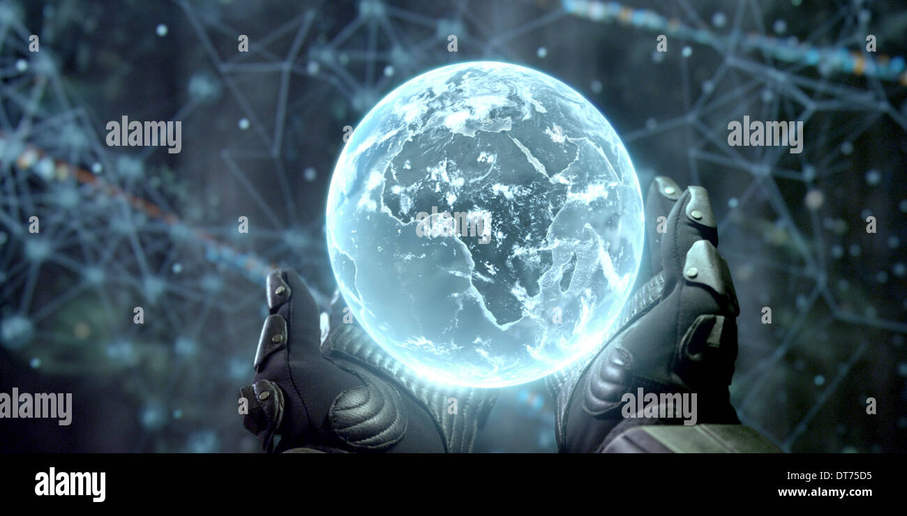 PLANET EARTH GLOWING ORB PROMETHEUS (2012) Stock Photo