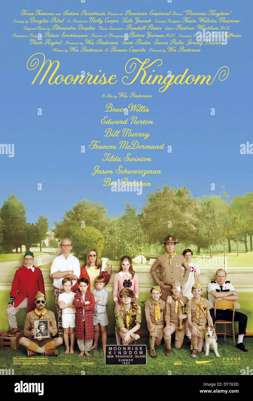 MOVIE POSTER MOONRISE KINGDOM (2012) - Stock Image