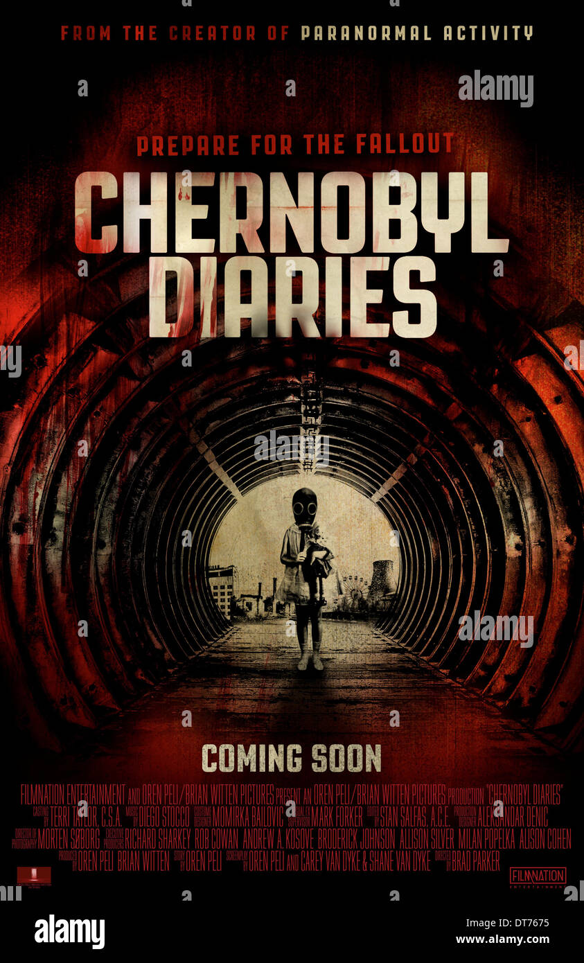 MOVIE POSTER CHERNOBYL DIARIES (2012) - Stock Image