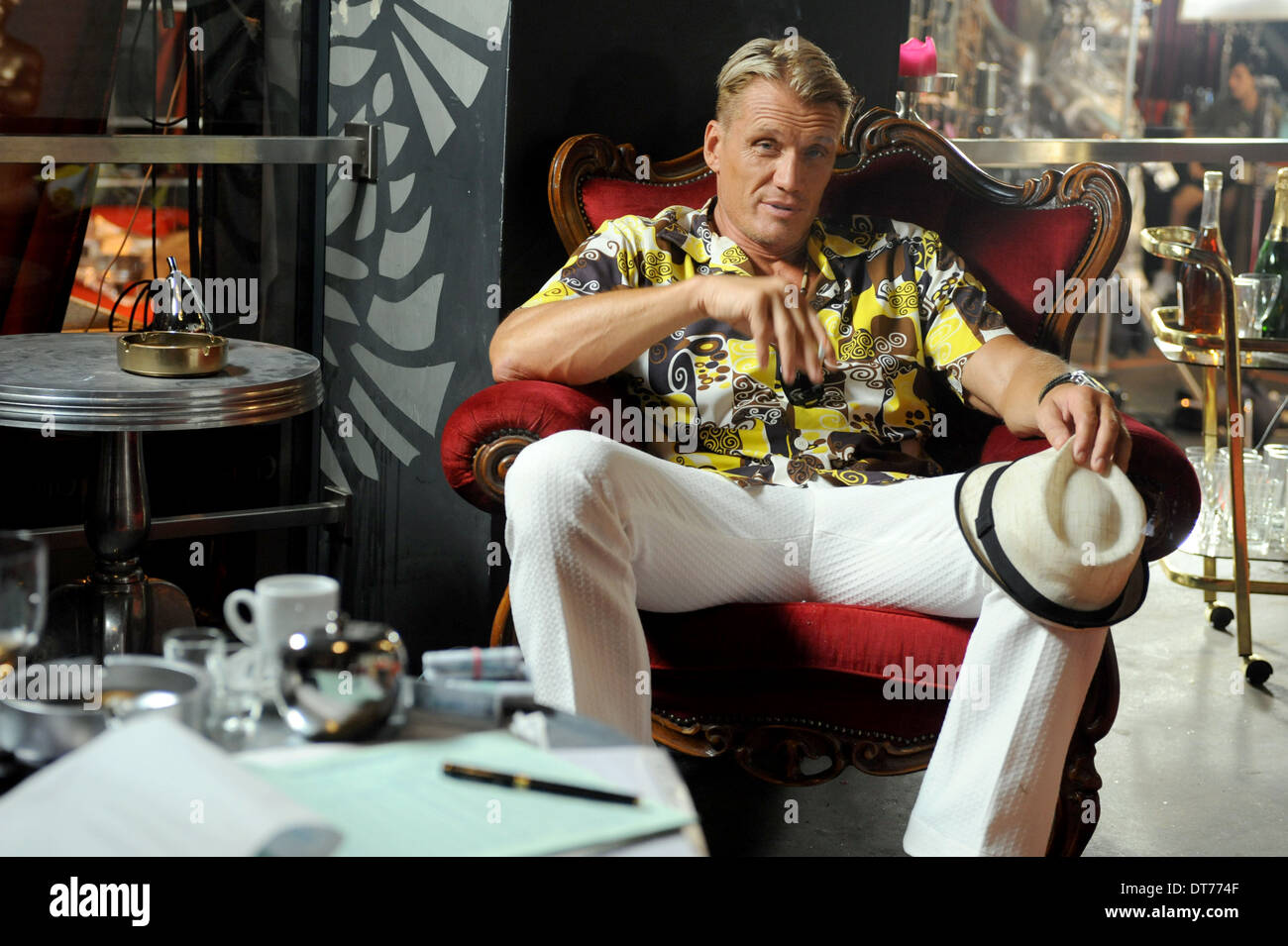 DOLPH LUNDGREN ONE IN THE CHAMBER (2012) - Stock Image