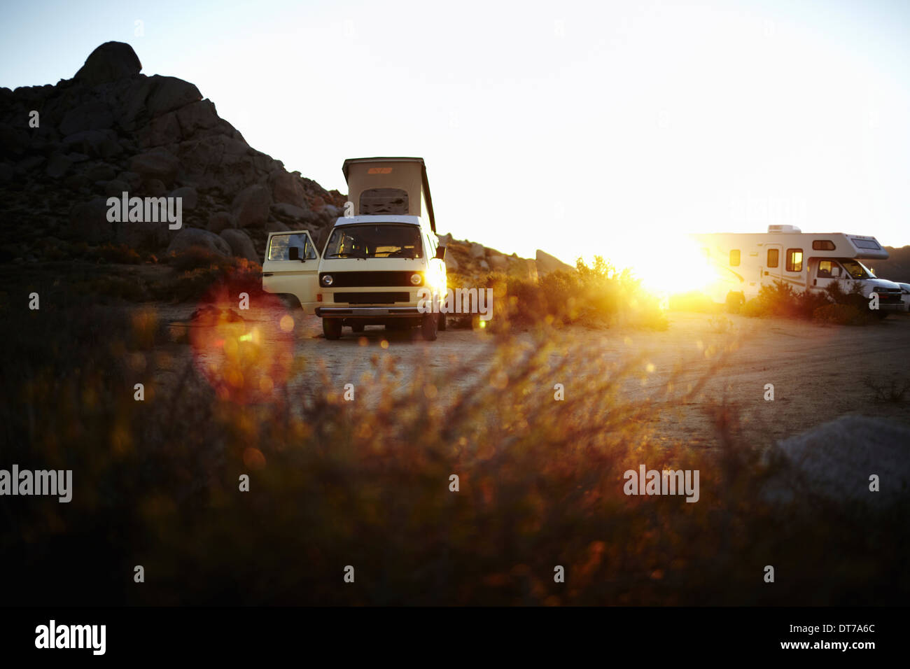 d1c8d4e645 A camper van a classic design and an iconic travelling vehicle in Yosemite  national park at
