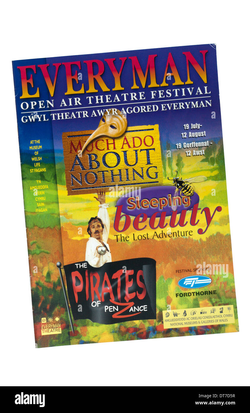 Programme for the 2000 productions of the Cardiff Everyman Open Air Theatre. - Stock Image