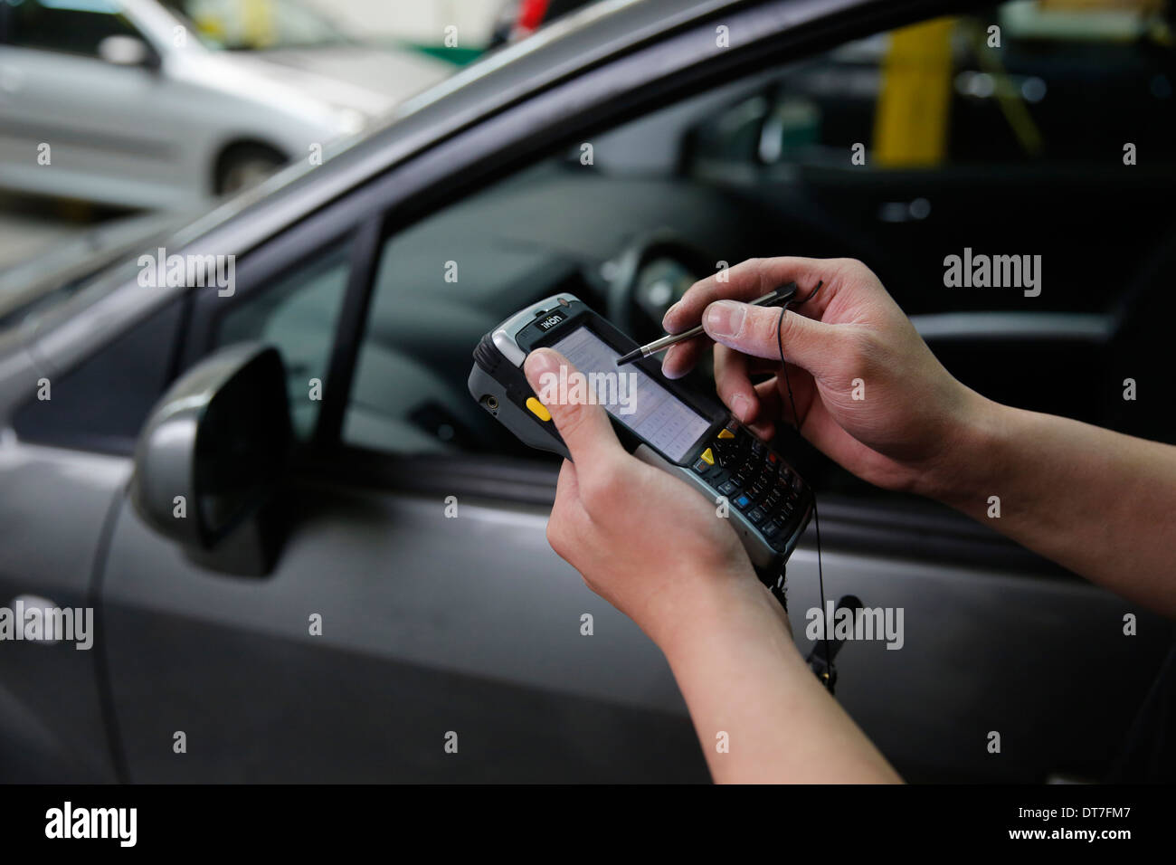 Vehicle test (compulsory technical check) - Stock Image