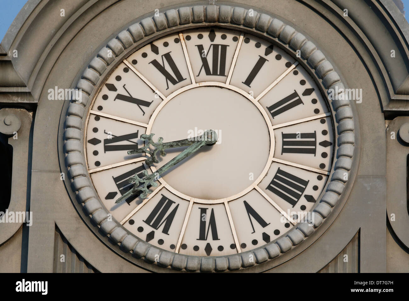 Town council clock tower. - Stock Image