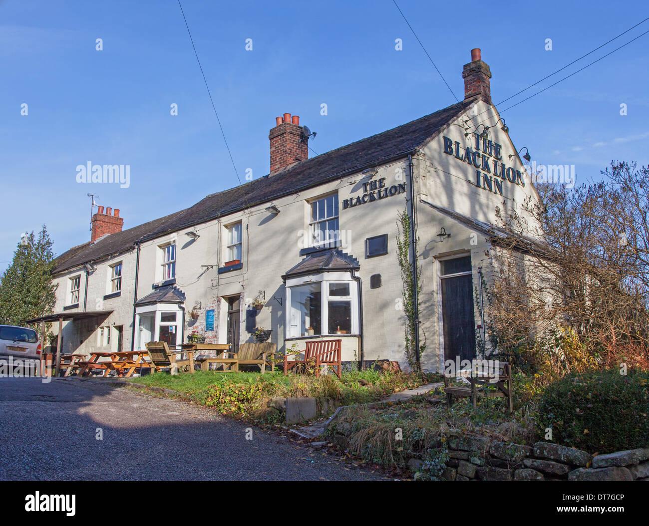 The Black Lion Pub Cheddleton Staffordshire England UK - Stock Image