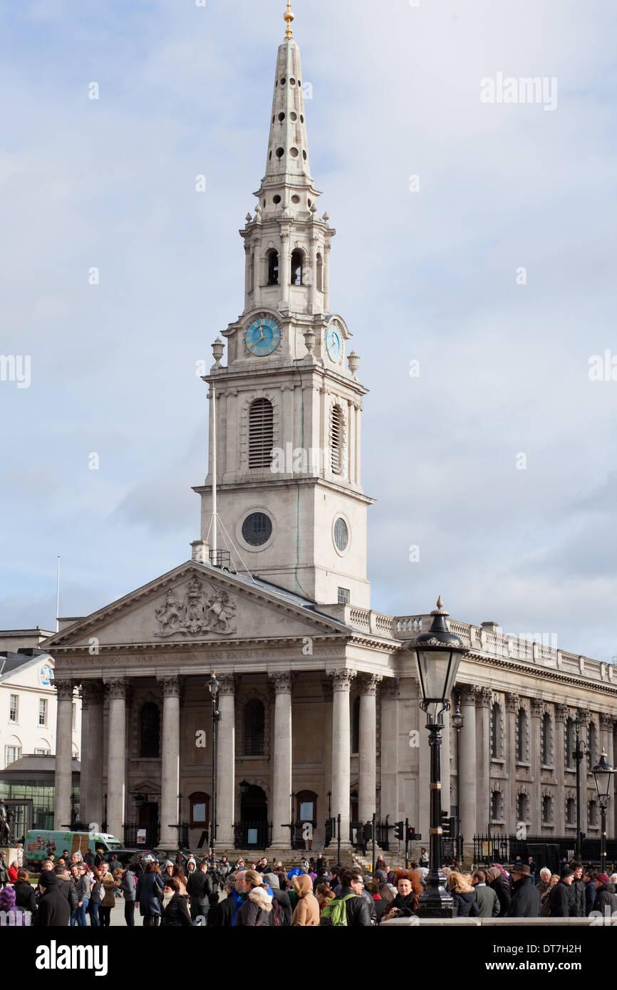 Church of St Martin in the Fields, Trafalgar Square, London, UK, England - Stock Image