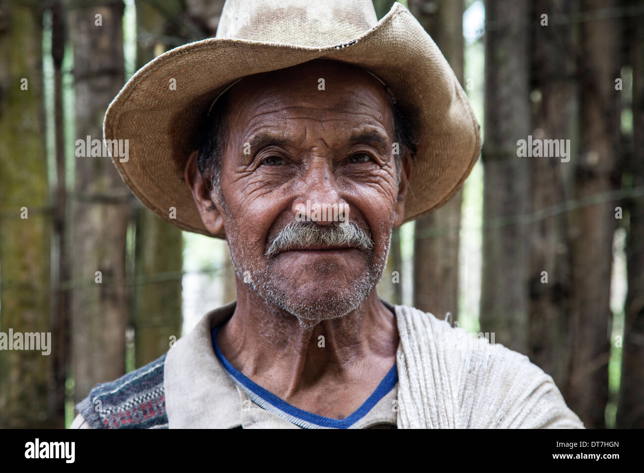 Portrait of Guatemalan peasant - Stock Image