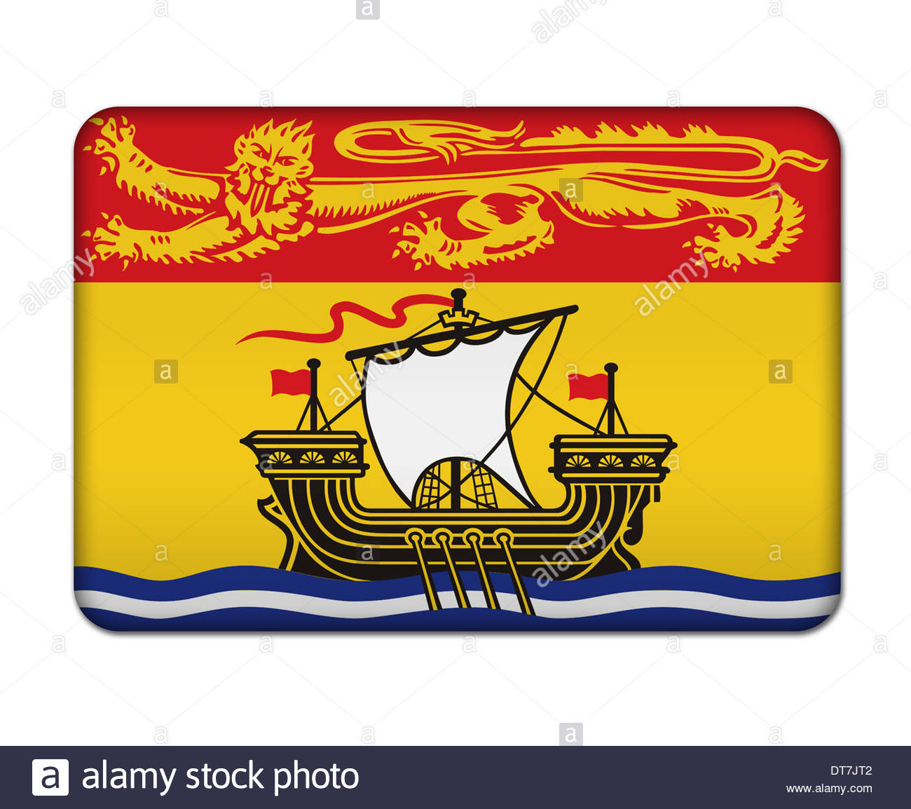 New brunswick flag cut out stock images pictures alamy new brunswick canada flag icon banner logo sign stock image publicscrutiny Images