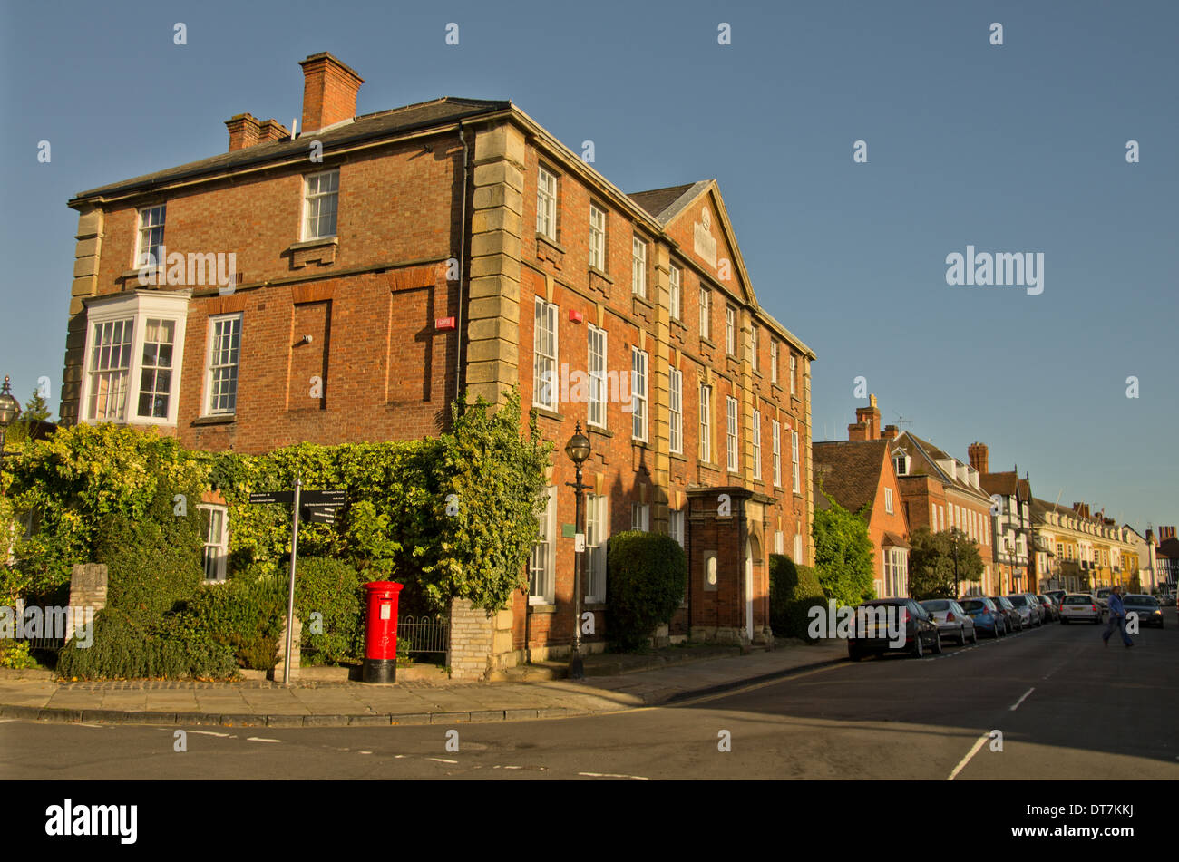 Georgian Building in Stratford on Avon at the junction of Old Town and Church Street - Stock Image
