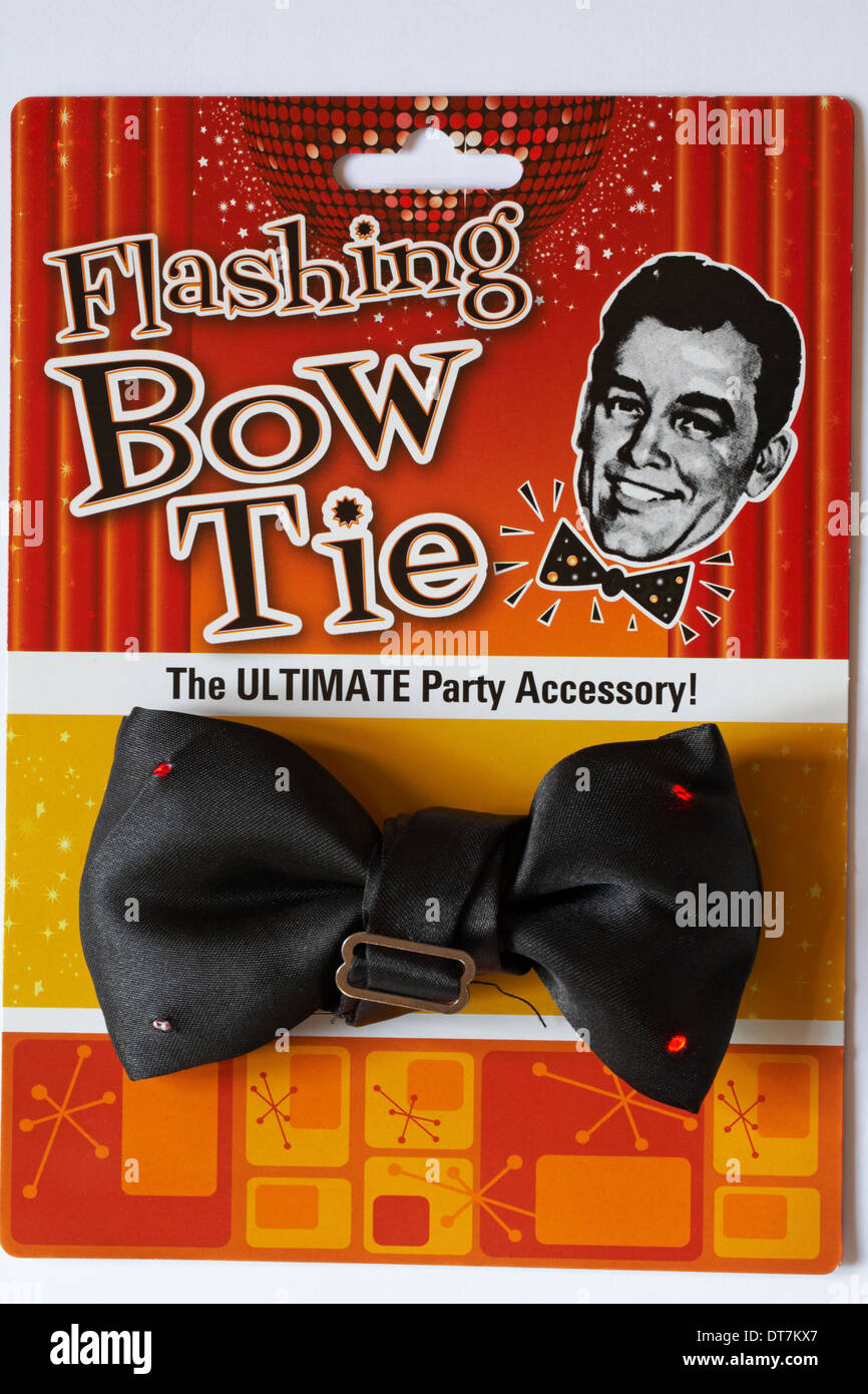 Flashing bow tie the ultimate party accessory - Stock Image