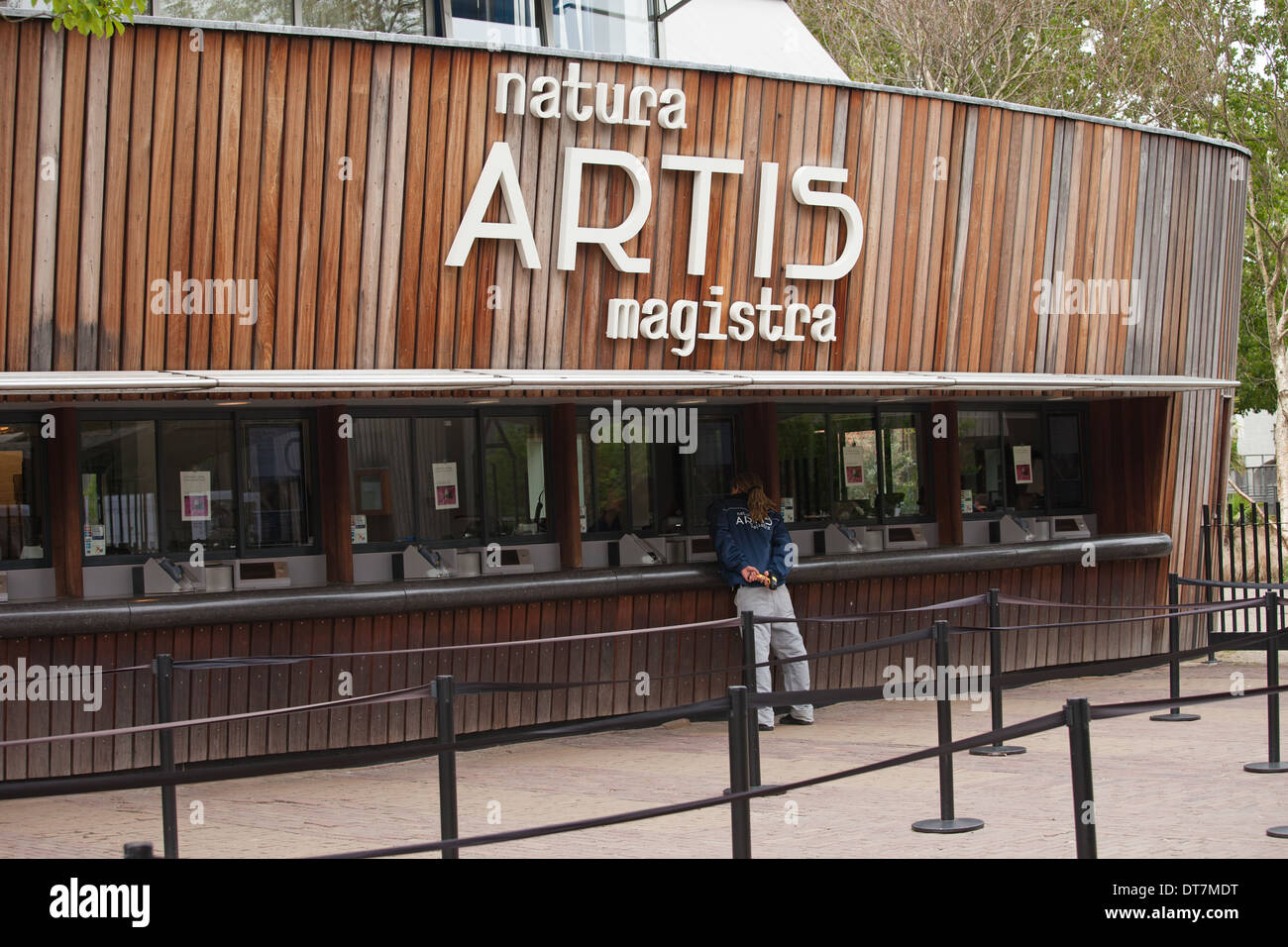 Artis Royal Zoo ticket counters in Amsterdam, Holland, Netherlands. - Stock Image