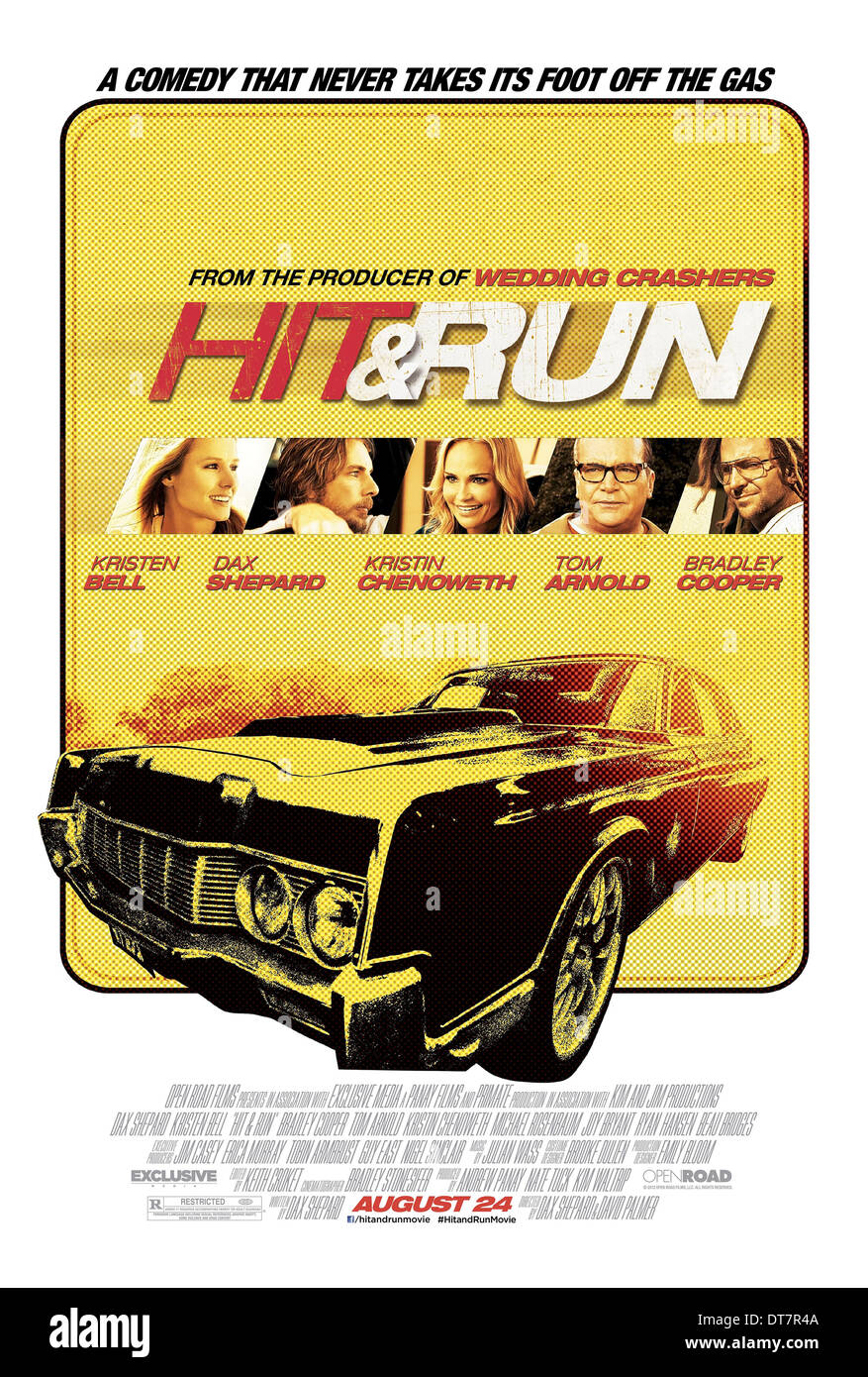 MOVIE POSTER HIT AND RUN (2012) - Stock Image