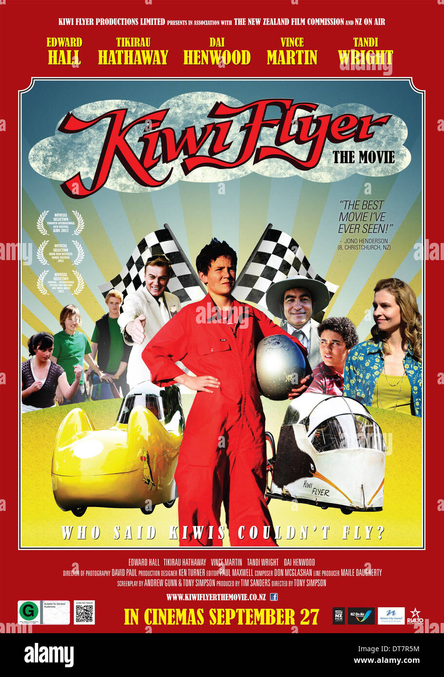 EDWARD HALL POSTER KIWI FLYER (2012) - Stock Image