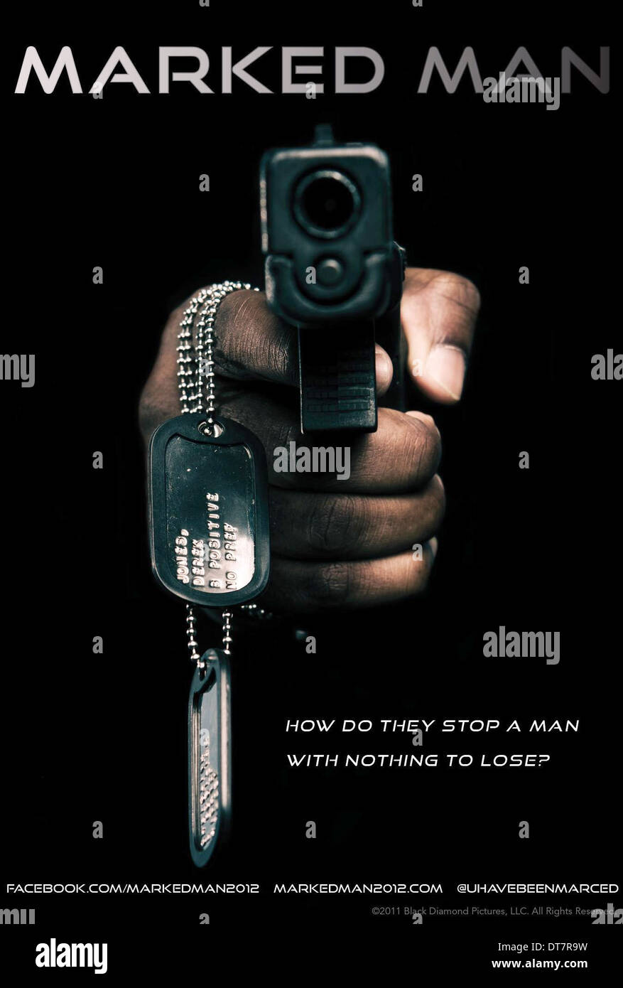 MOVIE POSTER MARKED MAN (2012) - Stock Image