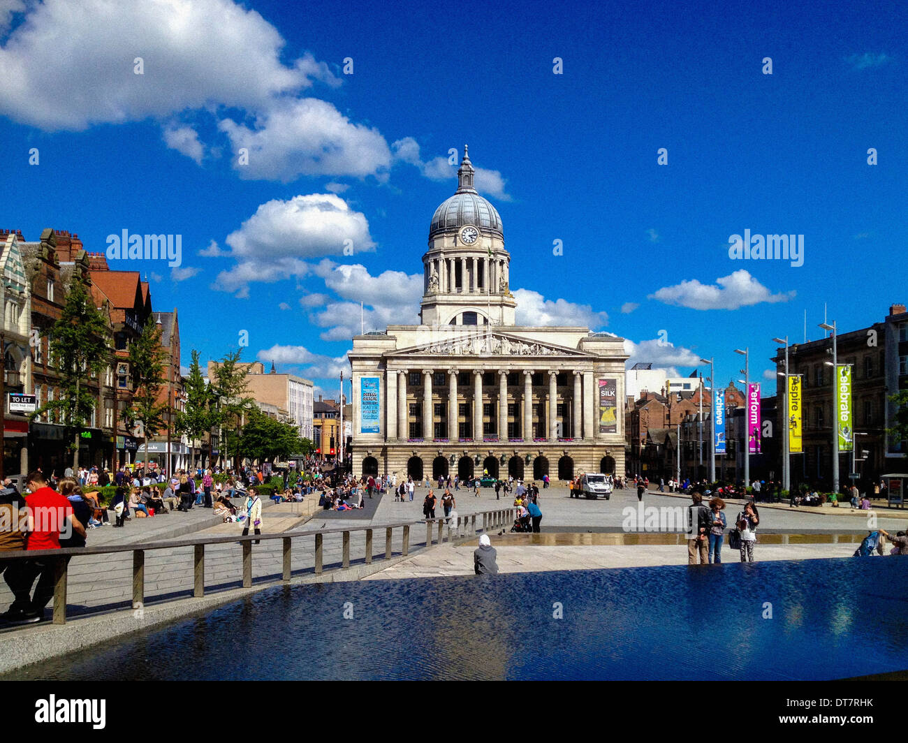 Nottingham Council House, Market Square, Nottingham, UK. - Stock Image