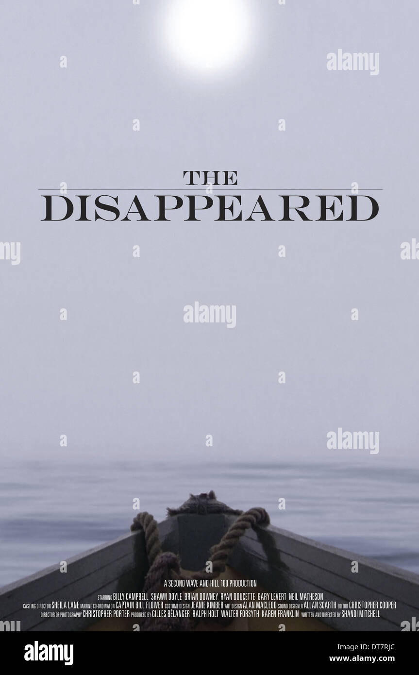 BOAT POSTER THE DISAPPEARED (2012) - Stock Image