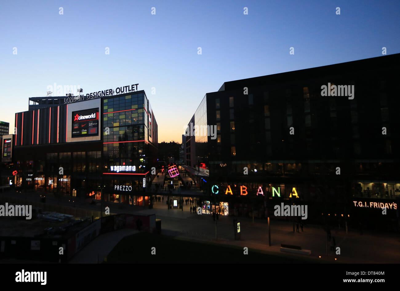 London Designer shopping outlet, Wembley Park - Stock Image