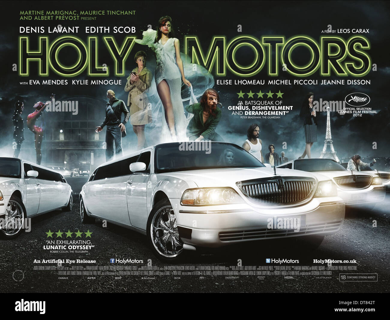 MOVIE POSTER HOLY MOTORS (2012) Stock Photo