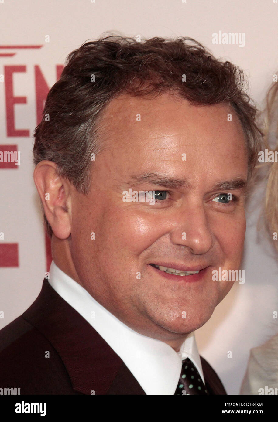 London, UK, 11th February 2014 Hugh Bonneville arrives at the UK Premiere of 'The Monuments Men'' at the Odeon Leicester Square Photo: MRP Credit:  MRP/Alamy Live News - Stock Image