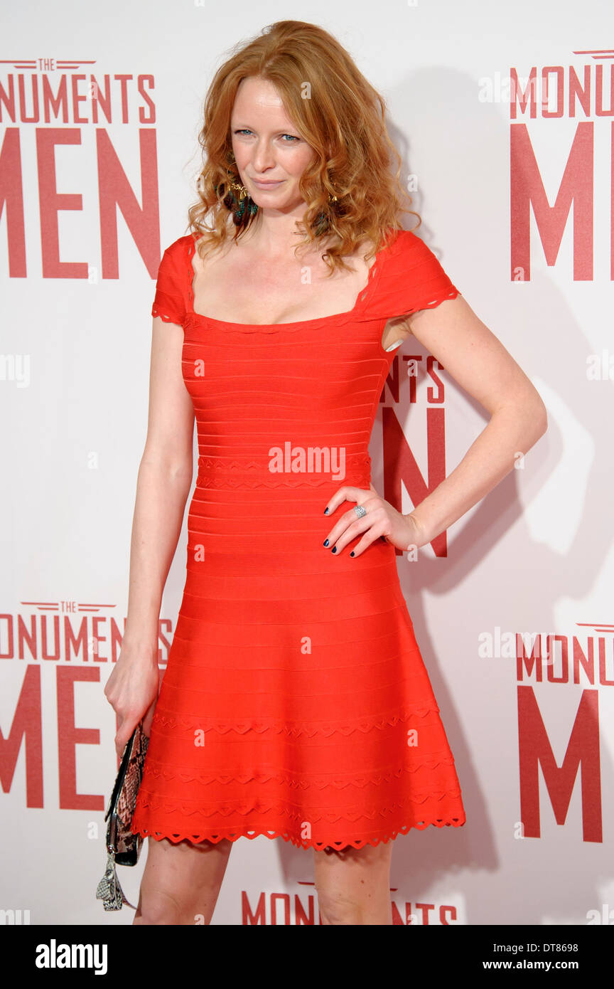 Olivia Inge arrives for the UK Premiere of 'The Monuments Men' at a central London cinema, London. - Stock Image