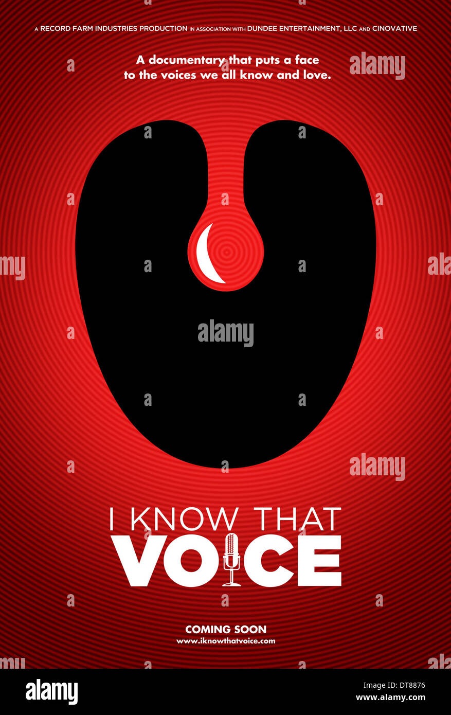 TONSIL MOVIE POSTER I KNOW THAT VOICE (2013) - Stock Image