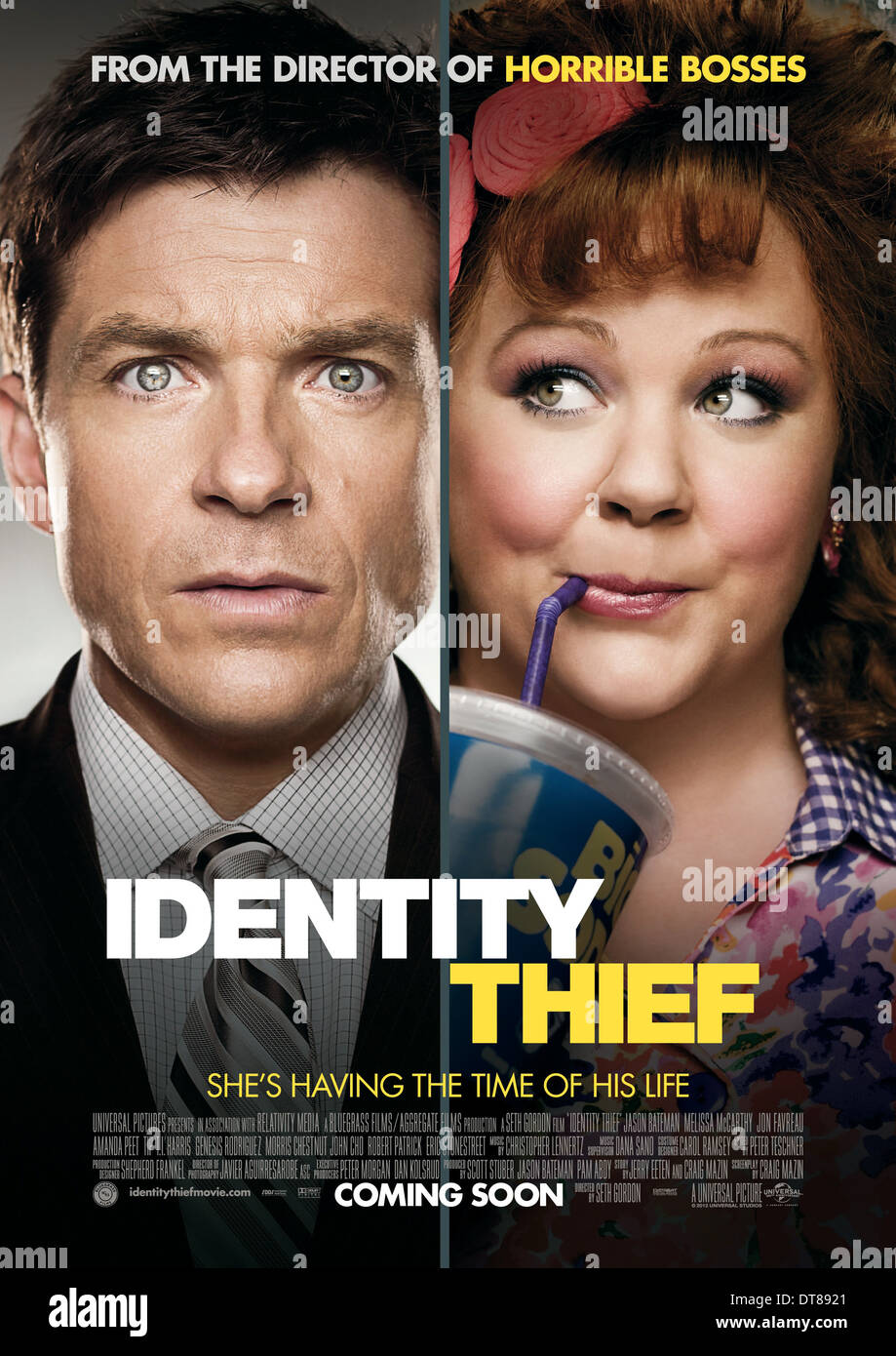Jason Bateman Melissa Mccarthy Poster Identity Thief 2013 Stock Photo Alamy
