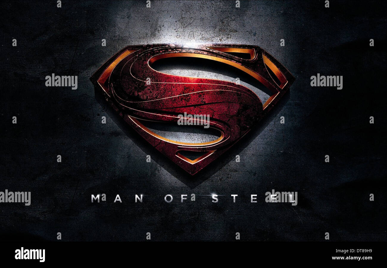 SUPERMAN INSIGNIA POSTER MAN OF STEEL; SUPERMAN (2013) - Stock Image