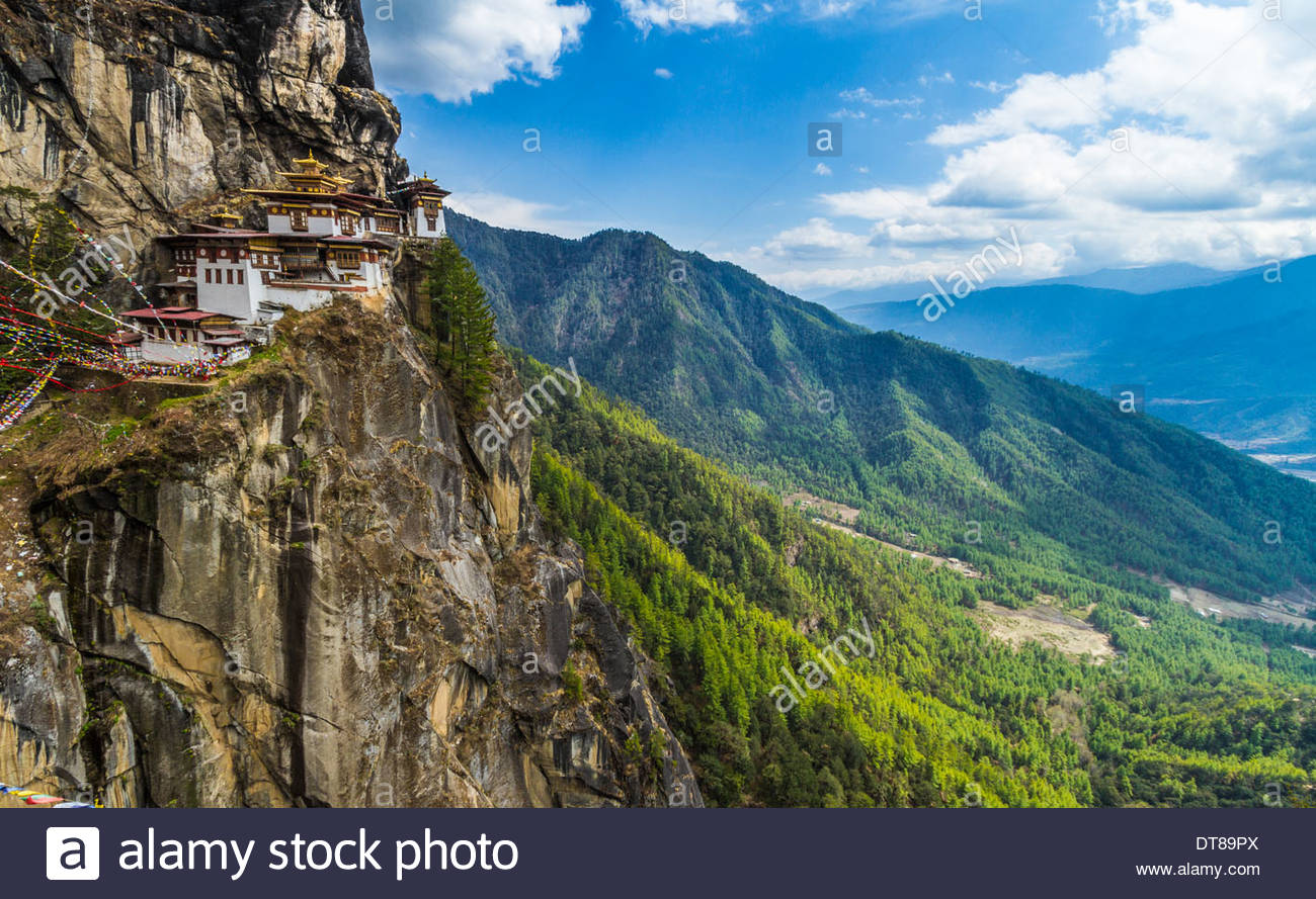 Taktsang Monastery - Tiger's Nest, Paro, Bhutan Stock Photo
