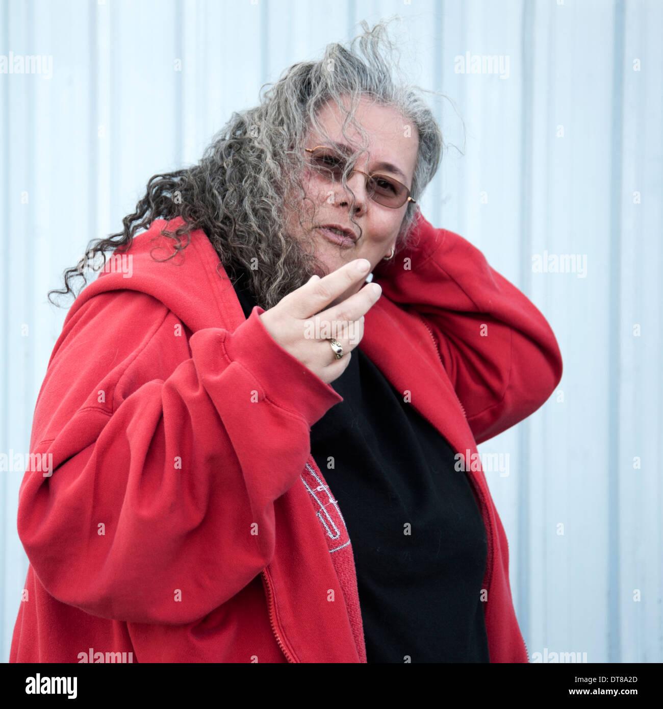 Fat mature women smoking