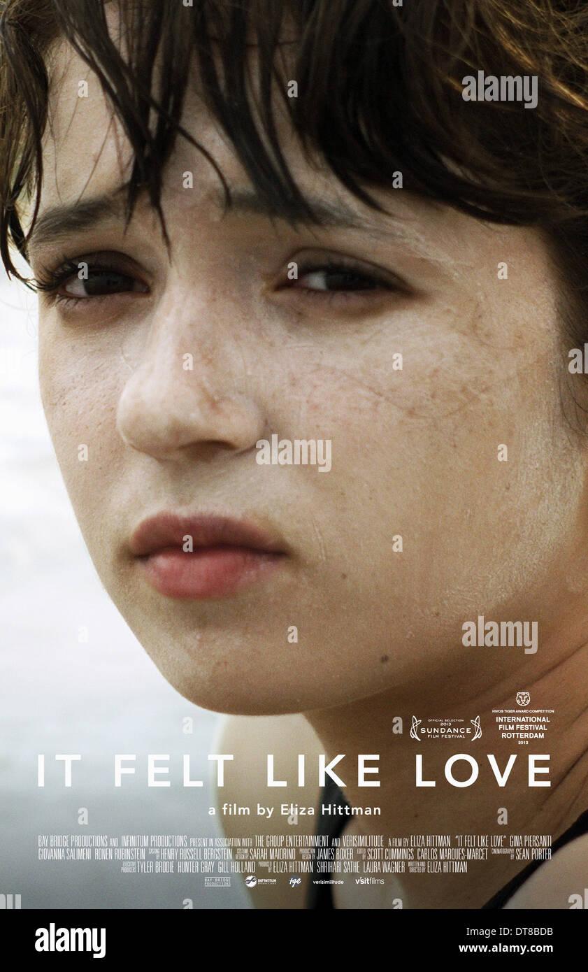 31bda87098b GINA PIERSANTI POSTER IT FELT LIKE LOVE (2013) - Stock Image