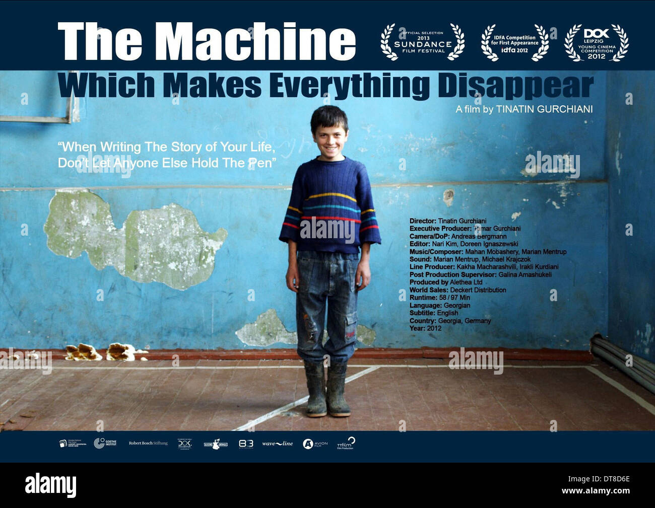 MOVIE POSTER THE MACHINE WHICH MAKES EVERYTHING DISAPPEAR (2013) - Stock Image