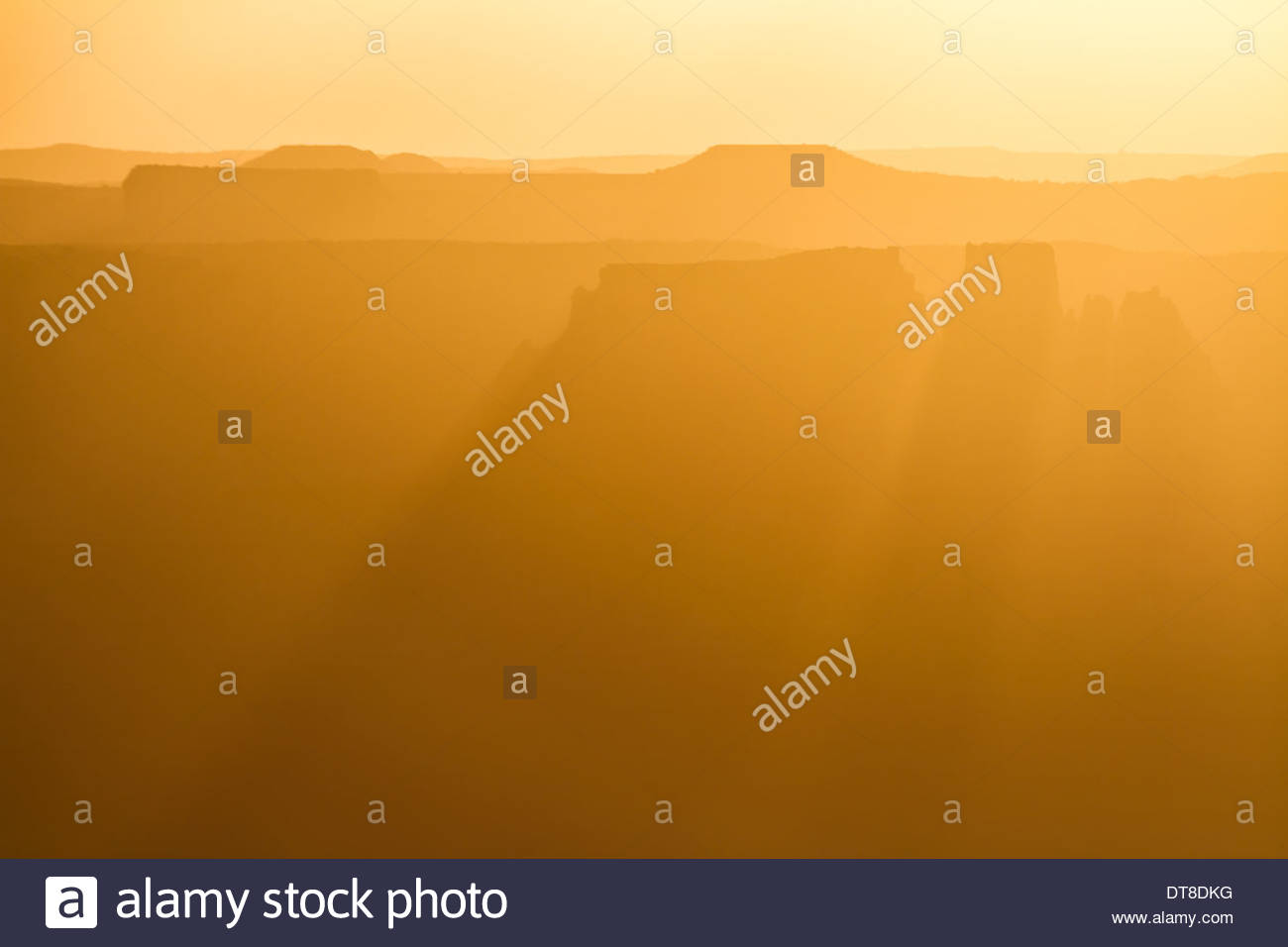 Distant Buttes, Canyonlands National Park, Utah, USA - Stock Image