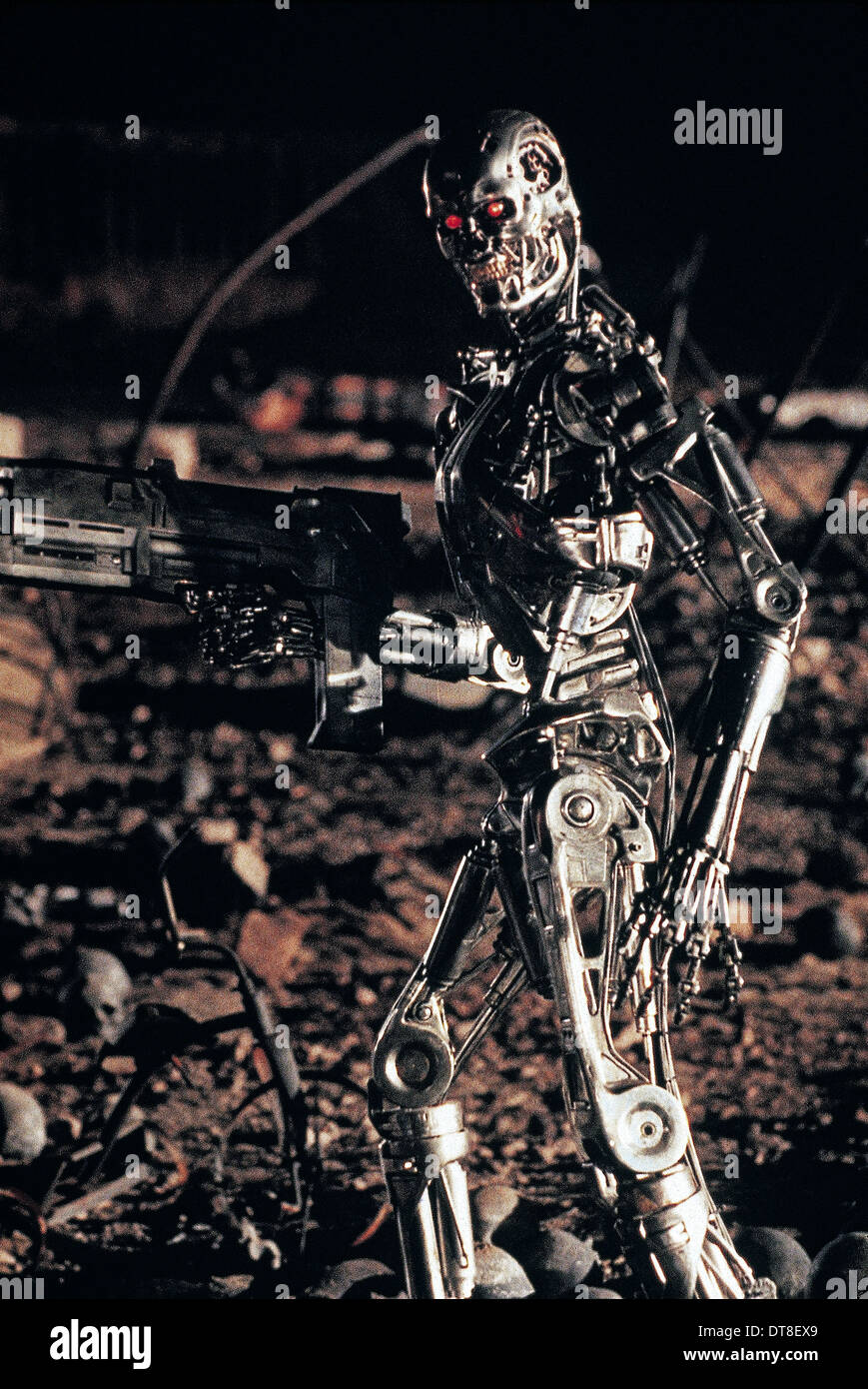 T-800 ROBOT TERMINATOR 2: JUDGMENT DAY (1991) - Stock Image