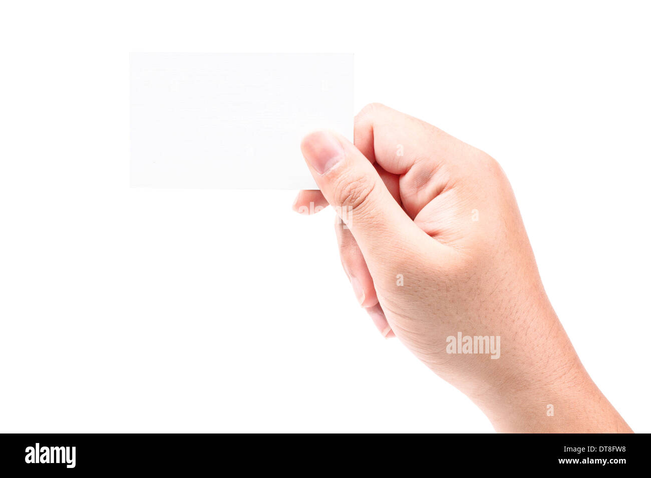 Bussiness Card on Hand - Stock Image